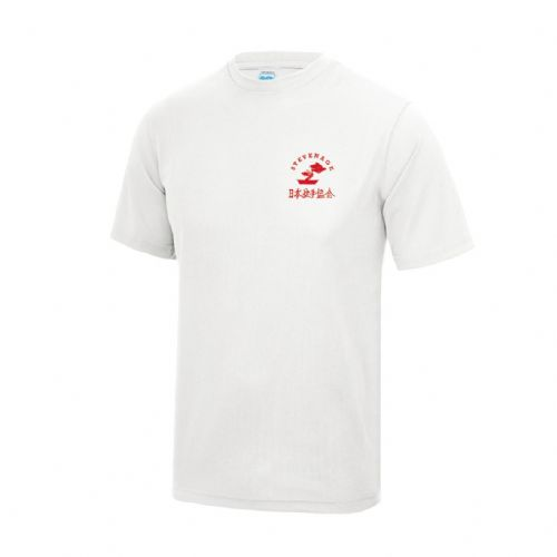 Stevenage Karate White Breathable Training T-Shirt Senior